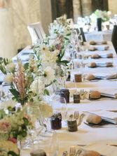 Table de mariage - mise en scène