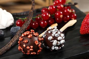 Sucettes au chocolat au sucre pétillant - Fantaisy