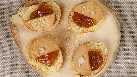 Toast de foie gras maison et chutney de figue