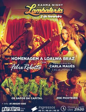 Lambateria faz homenagem à Loalwa Braz