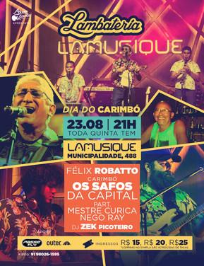 Dia do Carimbó será comemorado com uma grande roda de pau e corda na Lambateria #114
