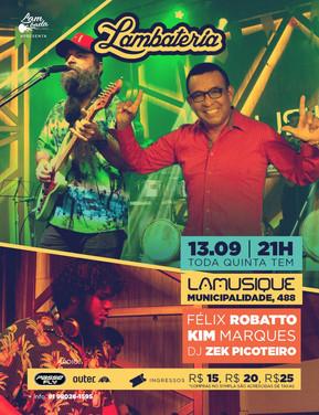 Lambateria#117 recebe os sucessos de Kim Marques