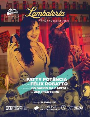 DJ Patty Potência estreia na Lambateria