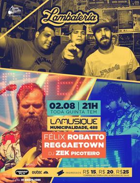 Lambateria recebe agosto com Reggaetown