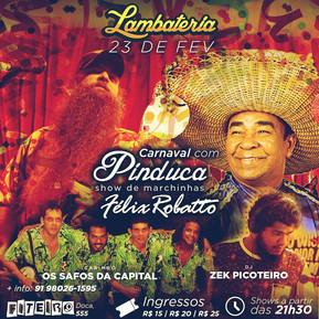 Lambateria realiza seu baile de Carnaval nesta quinta, 23