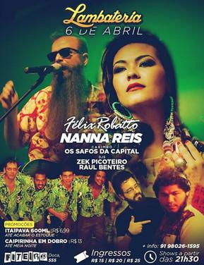 Lambateria#43 terá Nanna Reis e DJ Raul Bentes