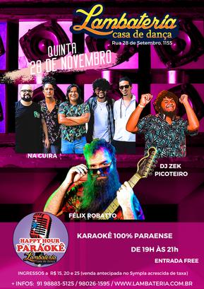 Lambateria se despede de novembro com banda Na Cuíra