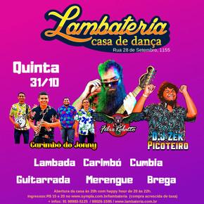 Lambateria 155 terá Guitarrada de Félix Robatto, discotecagem de Zek Picoteiro e Carimbó do Jonny