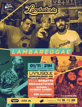 Lambateria#124 mistura Lambada com Reggae