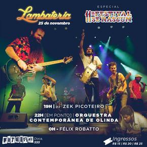 Lambateria#24 recebe Orquestra Contemporânea de Olinda