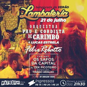 Lambateria#6 lança Orquestra Pau e Cordista de Carimbó