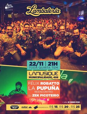 Banda La Pupuña se reúne na Lambateria#127