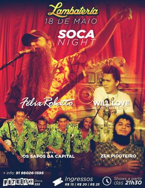 Lambateria#49 realiza Soca Night com Will Love