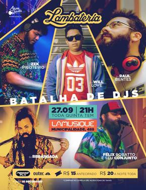 Batalha de DJs marca a Lambateria#119