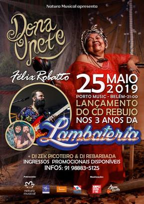 Lançamento do novo disco de Dona Onete no aniversário da Lambateria
