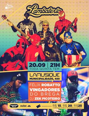 Vingadores do Brega fazem show de estreia na Lambateria#118