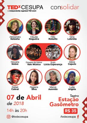 Félix participa do TedxCESUPA neste sábado, 07