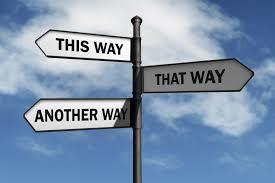A diverging path
