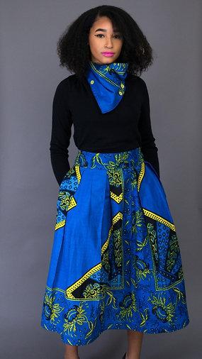 Full Length Pleated Skirt