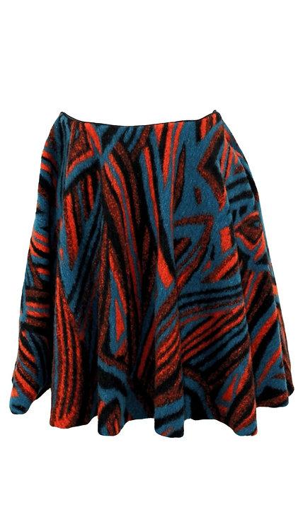Wool Mini Circle Skirt