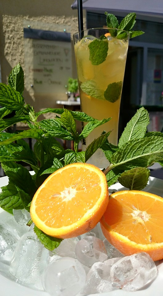 Minz-Orangen-Limonade