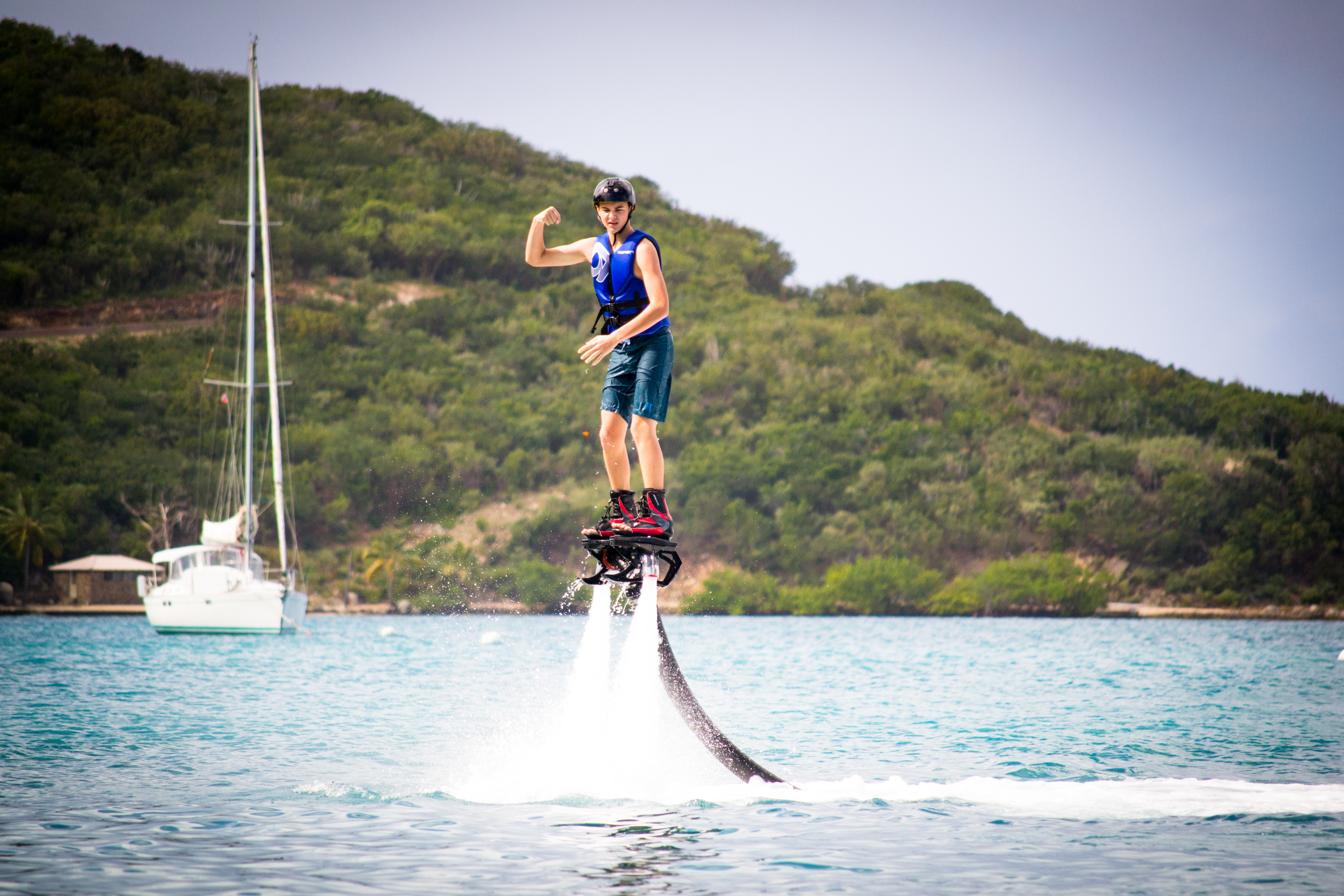 Flyboarding at Leverick