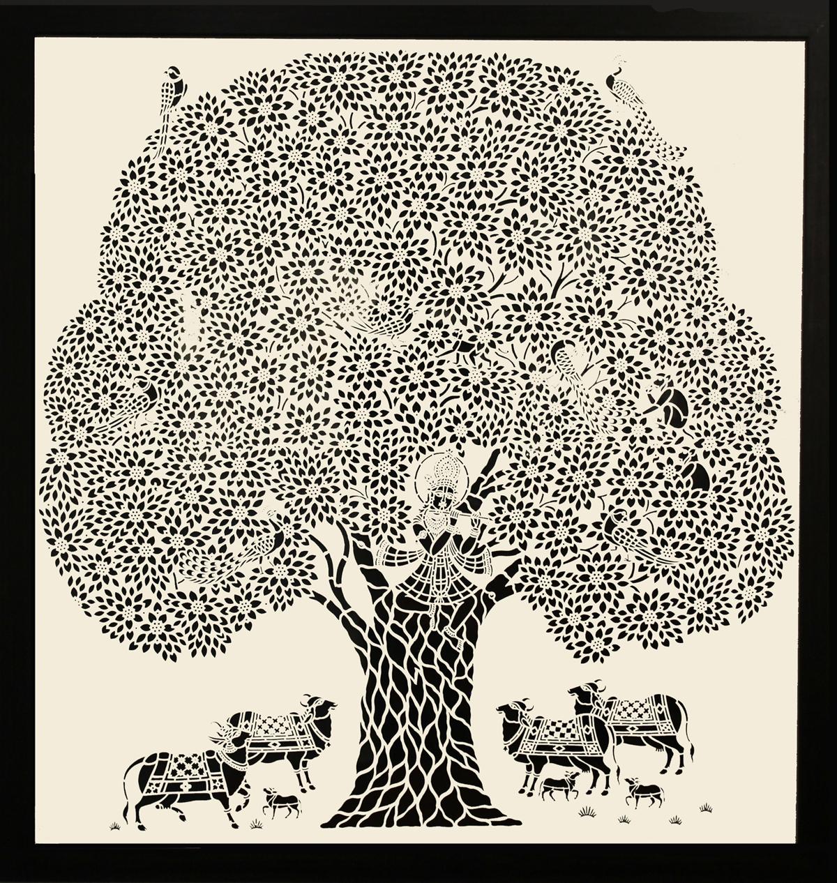 Krishna with Tree (Big)