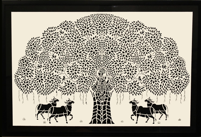 Krishna with Tree (Small)