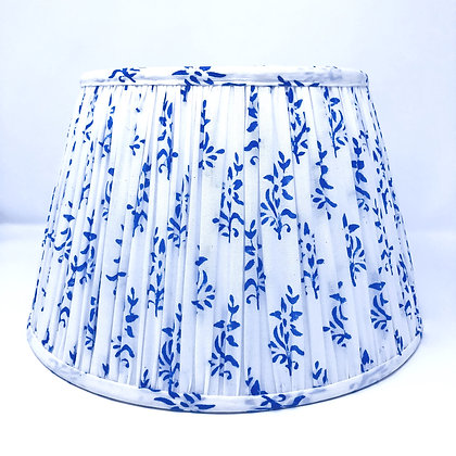 """12"""" Blue and white cotton shade"""