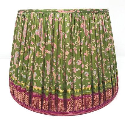 """14"""" Green and pink sari shade"""
