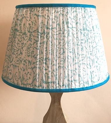 "14"" Light blue block print shade"