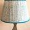 "Thumbnail: 14"" Light blue block print shade"