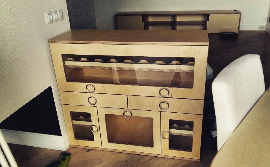 винный шкаф из фанеры