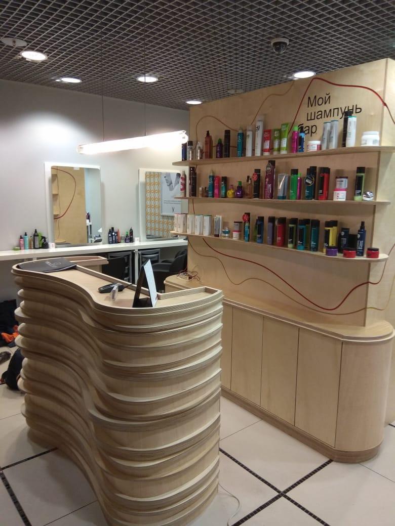 Салон красоты мебель отделка проект