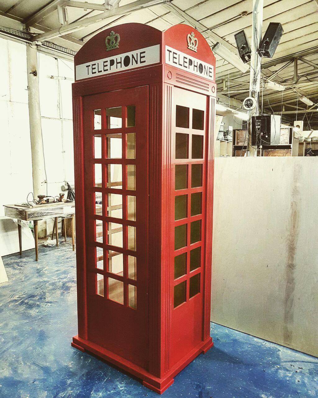 Телефонная будка шкаф для дома