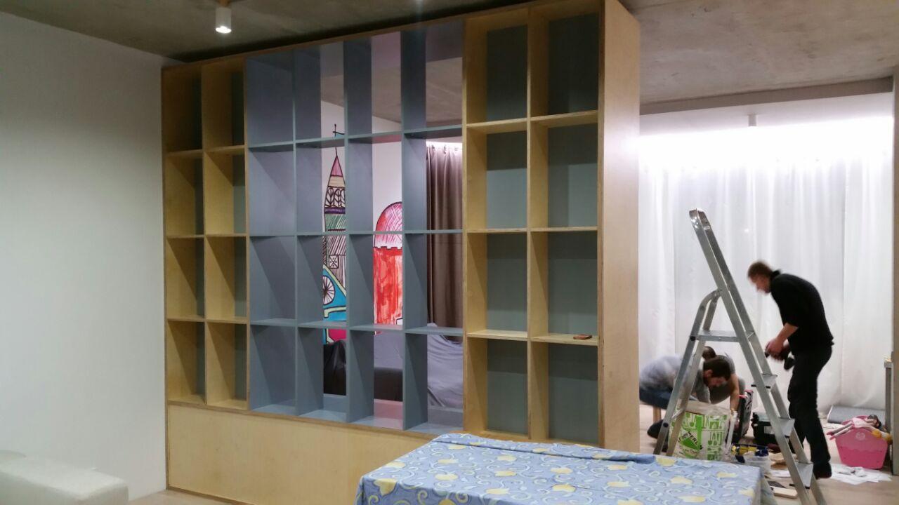 Стеллаж шкаф интерьер дизайн