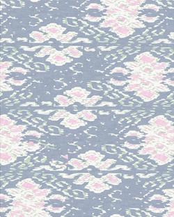 Floral Ikat (Skyway Blue)