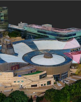 Hong Kong Cyberport 3D Model