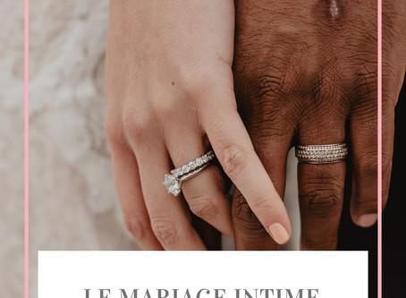 Le mariage en petit comité