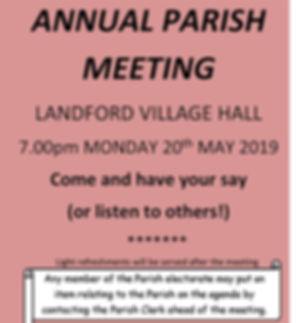 Annual Parish Meeting 2019 - Blank Agend