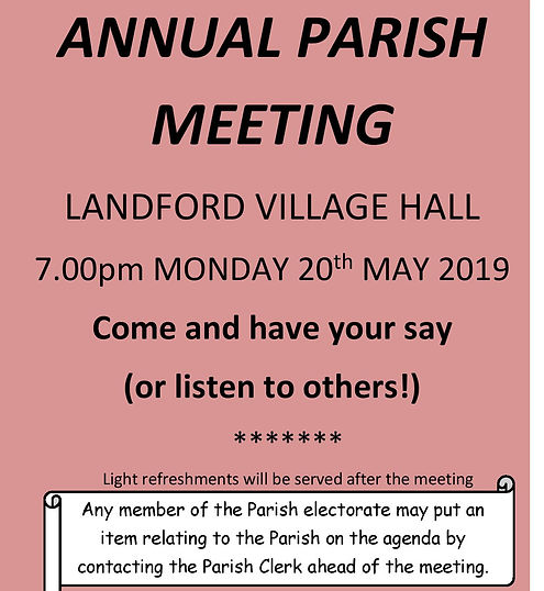 Annual Parish Meeting 2019 - Blank Agend