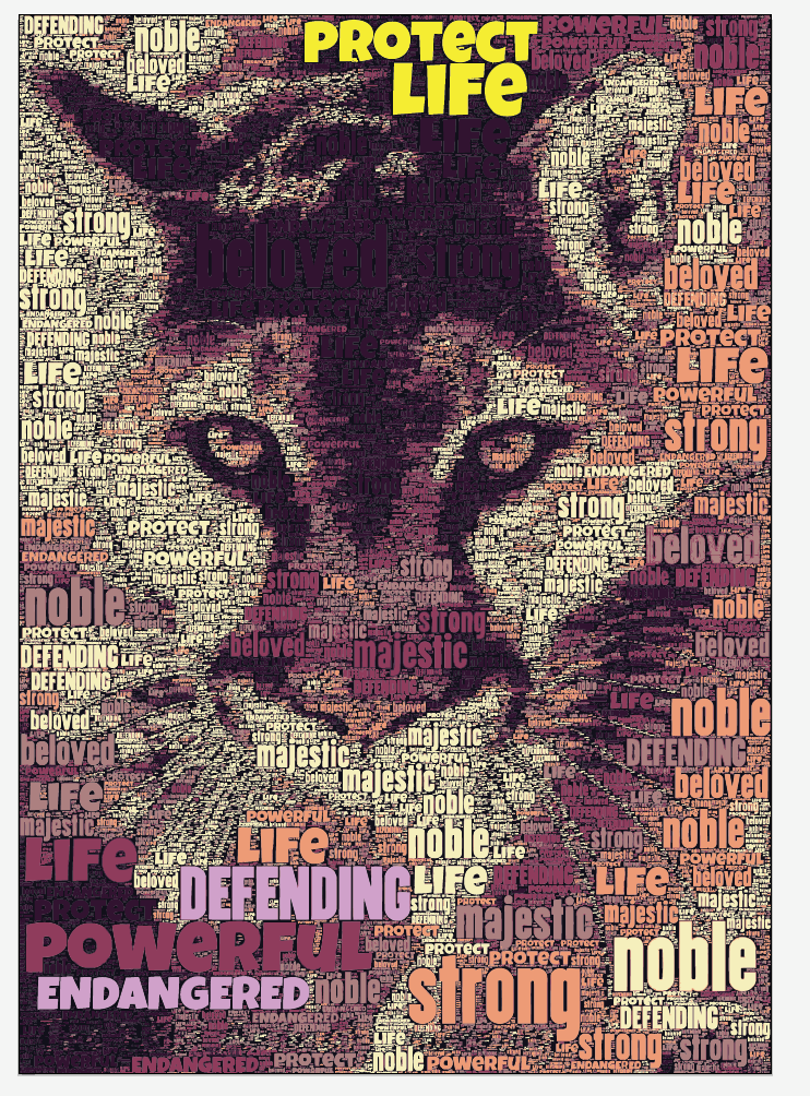 Mountain Lion Word Art