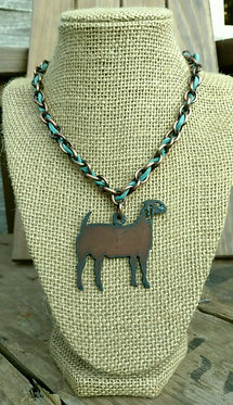 Goin' Showin Rustic Lamb Necklace