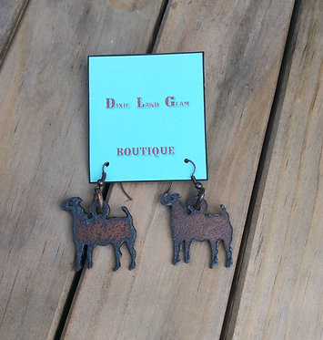 Goin' Showin Rustic Lamb Earrings