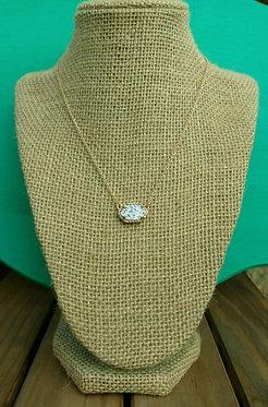 Silver Quartz Faceted Pendant Necklace