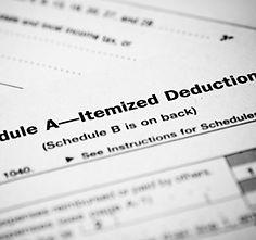 Standard Tax Return- Schedule A