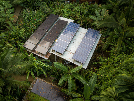 Solar Panels at Palmar Beach Lodge