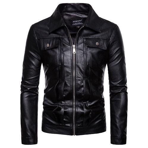 Black Men's Leather Jacket
