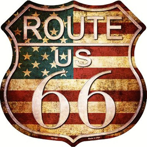 Route 66 Tin Metal Sign