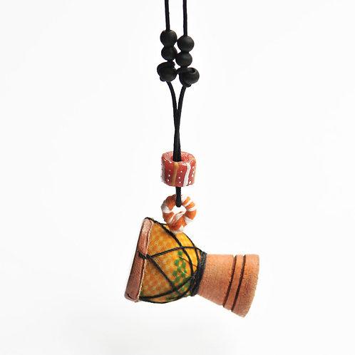 迷你鼓吊墜頸鍊 Mini Drum Necklace (Djembe)